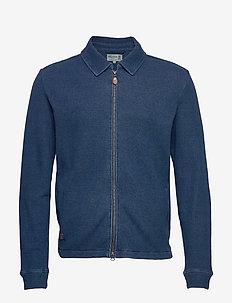 Romolo Zip Sweatshirt - podstawowe bluzy - blue