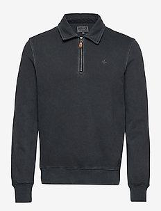 Belmondo Half-zip Sweatshirt - half zip jumpers - blue