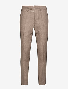 Azour  Rodney Linen Trouser - suit trousers - khaki
