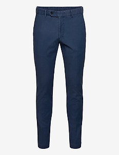 Rodney Washed Cotton Trouser - chinosy - blue