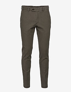 Rodney Washed Cotton Trouser - chinos - green