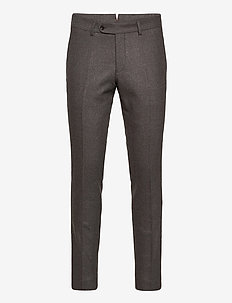 Rodney Flannel Trouser - suit trousers - brown