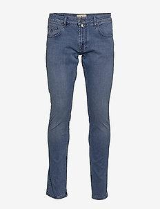 Steve Satin Jeans Zip - LT WASH