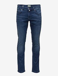 Steve Satin Jeans Zip - slim jeans - blue wash