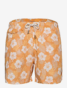 Hibiscus Bathing Trunks - casual shorts - yellow