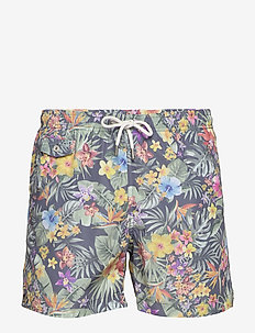Tropical Bathing Trunks - szorty kąpielowe - blue