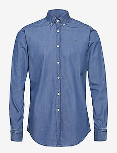 Julian Button Down Denim Shirt - jeansskjorter - blue