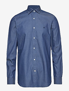 Bernard Indigo Spread Collar S - BLUE