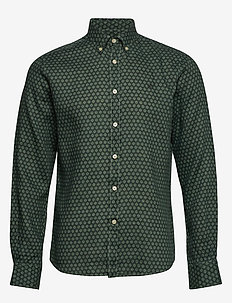 Bligh Button Down Linen Shirt - GREEN