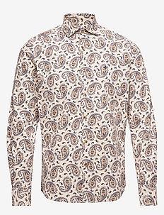 Matteo Spread Collar Shirt - KHAKI