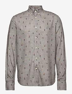Jasper Button Down Shirt - casual shirts - grey
