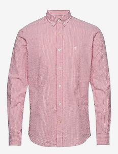 Lucas Button Down Shirt - casual skjortor - red