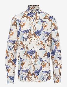 Harrison Spread Collar Shirt - BLUE