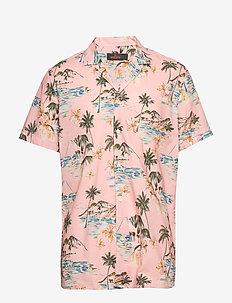 David Bowling Shirt - kortärmade skjortor - pink