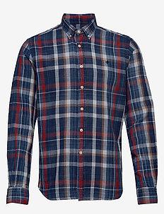 Liam Button Down Shirt - koszule w kratkę - blue