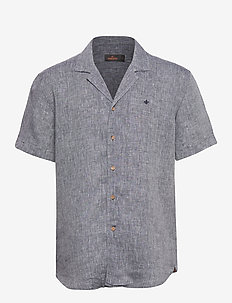 William Bowling Shirt - basic shirts - navy