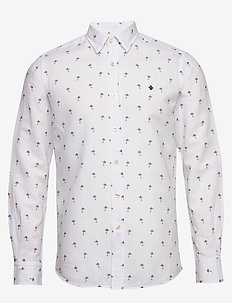 Matthew Button Under Shirt - linen shirts - white