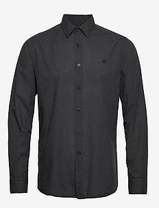 Albert Button Under Shirt - basic skjortor - blue