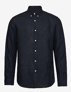 Douglas Linen Shirt - basic-hemden - blue