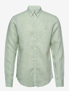 Douglas Linen Shirt - peruspaitoja - green