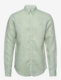 Douglas Linen Shirt - podstawowe koszulki - green