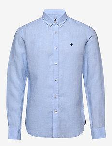 Douglas Linen Shirt - podstawowe koszulki - light blue