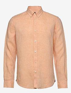 Douglas Linen Shirt - basic shirts - orange