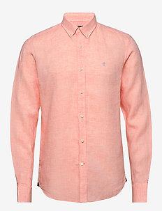 Douglas Linen Shirt - chemises basiques - pink