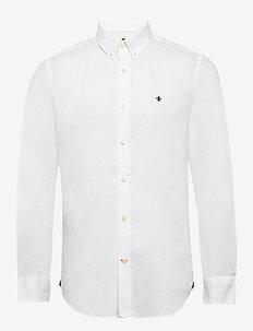 Douglas Linen Shirt - WHITE