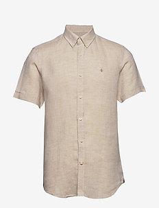 Douglas SS Linen Shirt - basic skjortor - khaki