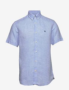 Douglas SS Linen Shirt - basic shirts - light blue