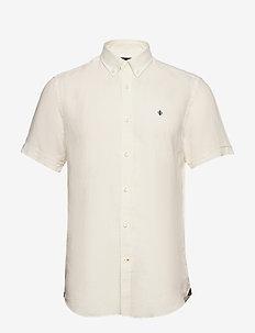 Douglas SS Linen Shirt - podstawowe koszulki - off white