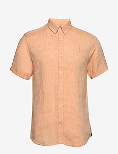 Douglas SS Linen Shirt - basic shirts - orange