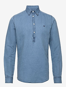 Harold Pop-over B.U. Shirt - basic skjorter - blue