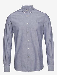 André Button Down Shirt - basic shirts - blue