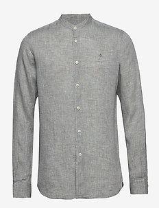 Nicolas Band Collar Shirt - podstawowe koszulki - green