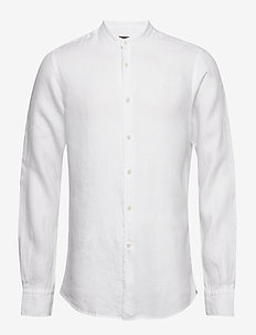 Nicolas Band Collar Shirt - basic skjorter - white
