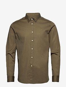 Dalton Button Under Shirt - chemises décontractées - olive