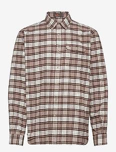 Taylor Over Shirt - karierte hemden - brown