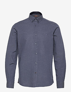 Nelson Button Down Shirt - basic shirts - blue