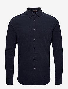 Cedrik Button Under Shirt - formele overhemden - blue