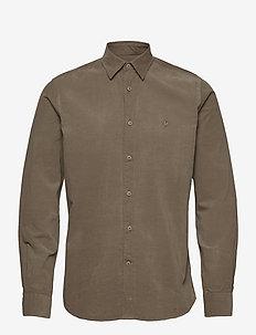 Cedrik Button Under Shirt - business skjorter - olive