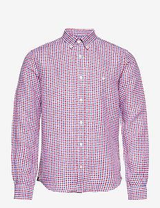 Gaspard BD Shirt - linneskjortor - red