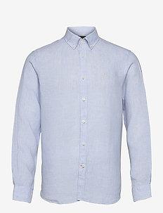 Douglas Linen Shirt LS - chemises basiques - light blue
