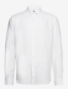 Douglas BD Linen Shirt LS - basic skjortor - white