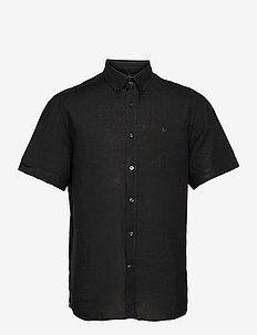 Douglas BD Linen Shirt SS - chemises basiques - black
