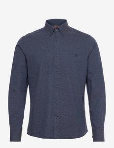 Watts Flannel BD Shirt - chemises décontractées - navy