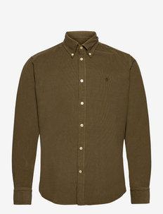 Douglas Cord BD Shirt - chemises basiques - olive