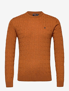 Merino Cable Oneck - rundhals - camel