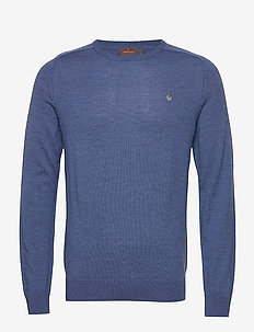 Merino Oneck - basic knitwear - blue